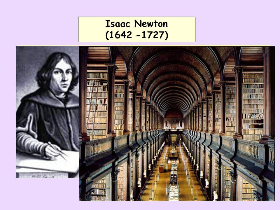 Isaac Newton (1642 -1727) Isaac Newton (1642 -1727) Osmnáctiltý Newton se zajímá o vědu Čte díla G.Galileiho a R.