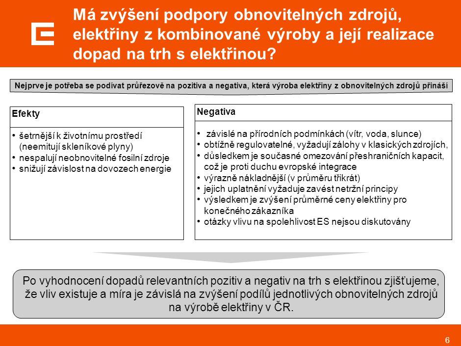 7 Jaké jsou cíle podílu výroby elektřiny z obnovitelných zdrojů k celkové hrubé spotřebě elektřiny v ČR a EU 15 v roce 2010.