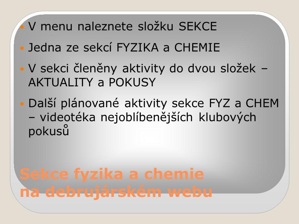 Sekce fyzika a chemie