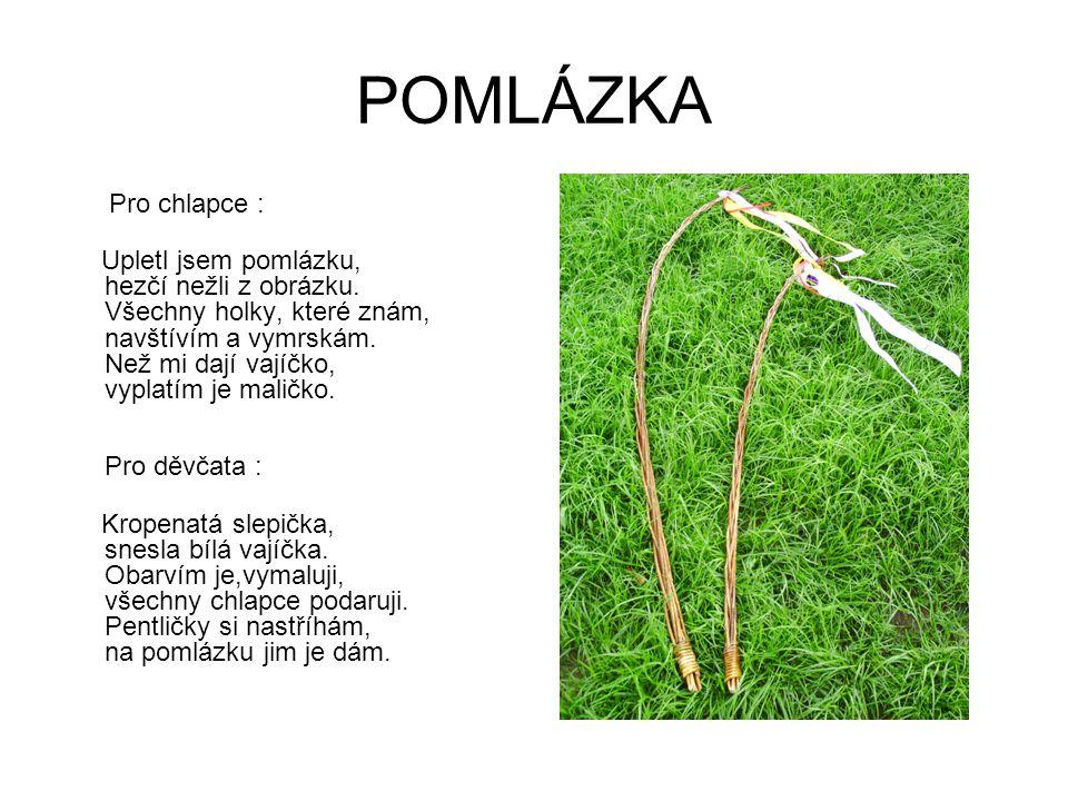 Použitá literatura Šottnerová Dagmar: Velikonoce, vydalo nakladatelství Rubico, Olomouc 2004 ISBN 80-7346-018-1 Honzíková Jarmila: Materiály pro pracovní činnosti na 1.