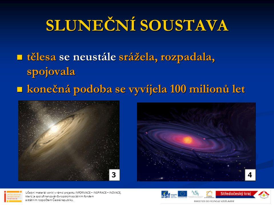 SATURN šestá a druhá největší planeta od Slunce šestá a druhá největší planeta od Slunce výrazné prstence, více než 62 měsíců výrazné prstence, více než 62 měsíců kapalný povrch kapalný povrch Učební materiál vznikl v rámci projektu INFORMACE – INSPIRACE – INOVACE, který je spolufinancován Evropským sociálním fondem a státním rozpočtem České republiky.