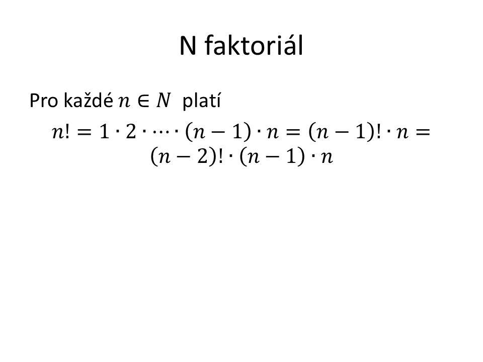 N faktoriál