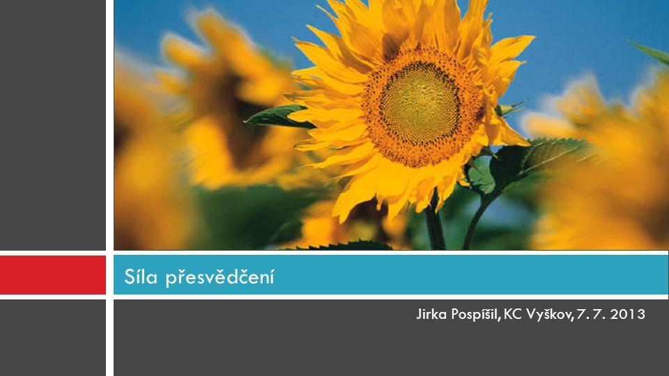 Jirka Pospíšil, KC Vyškov, 7. 7. 2013 Síla přesvědčení