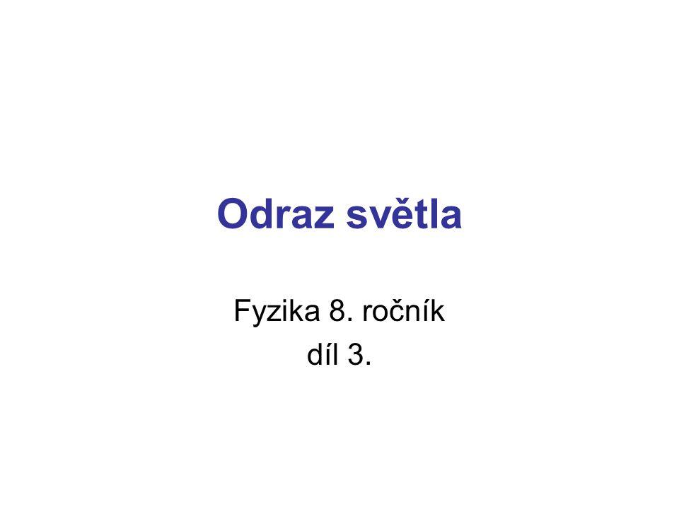 Odraz světla Fyzika 8. ročník díl 3.