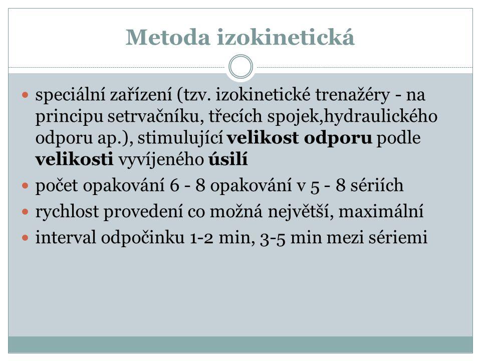 Metoda izokinetická speciální zařízení (tzv.