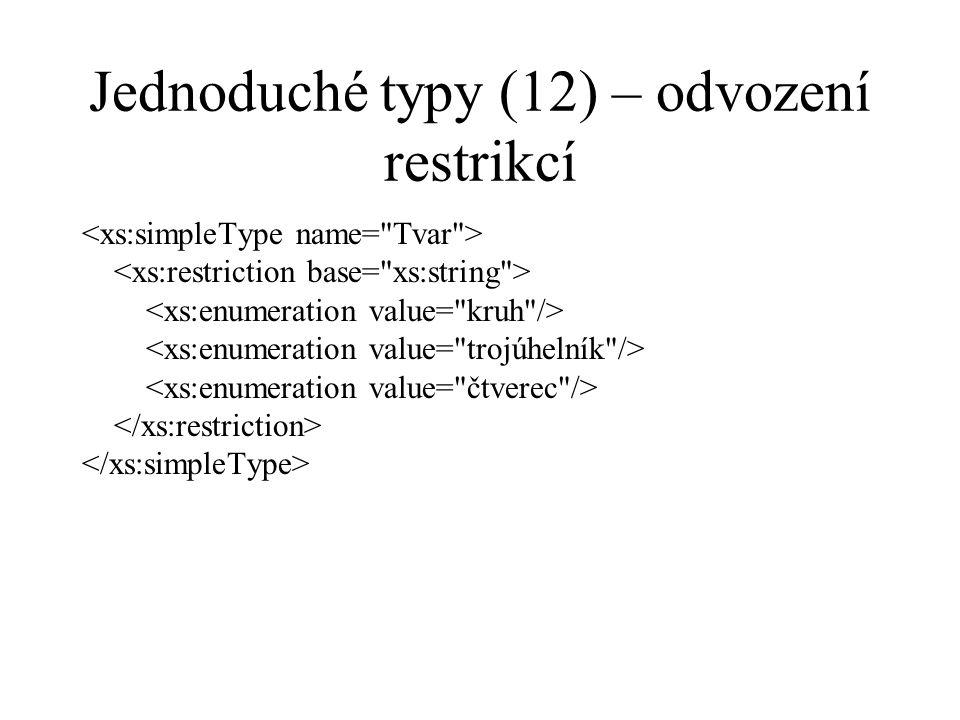 Jednoduché typy (12) – odvození restrikcí