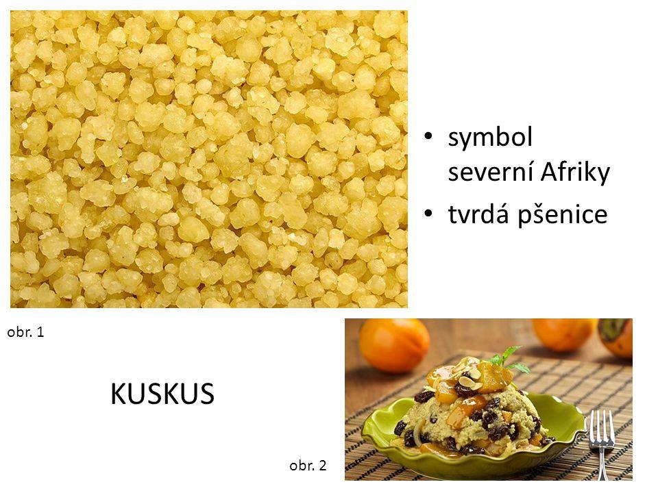 symbol severní Afriky tvrdá pšenice obr. 1 obr. 2 KUSKUS