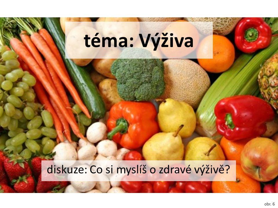 téma: Výživa diskuze: Co si myslíš o zdravé výživě? obr. 6