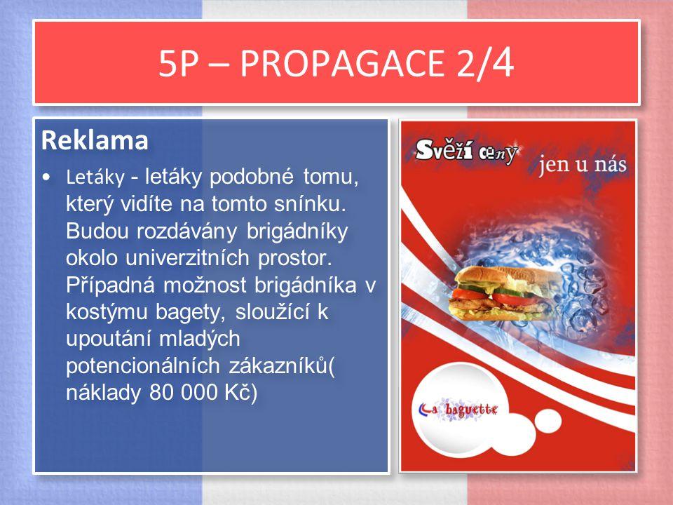 5P – PROPAGACE 2/ 4 Reklama Letáky - letáky podobné tomu, který vidíte na tomto snínku. Budou rozdávány brigádníky okolo univerzitních prostor. Případ