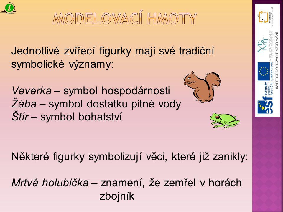 Jednotlivé zvířecí figurky mají své tradiční symbolické významy: Veverka – symbol hospodárnosti Žába – symbol dostatku pitné vody Štír – symbol bohats