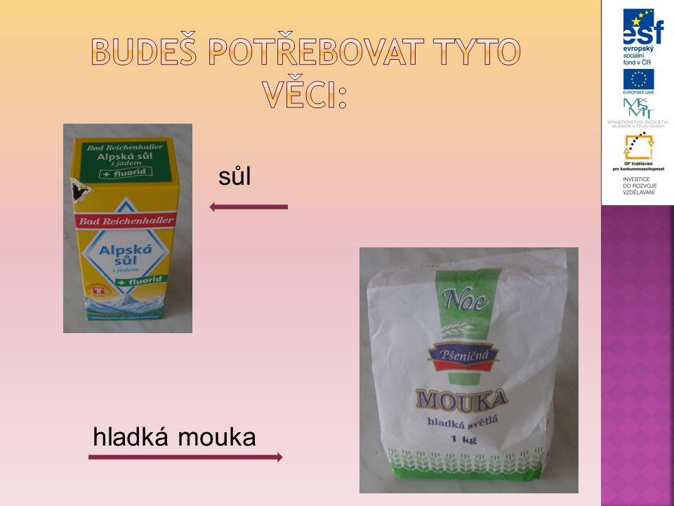 sůl hladká mouka