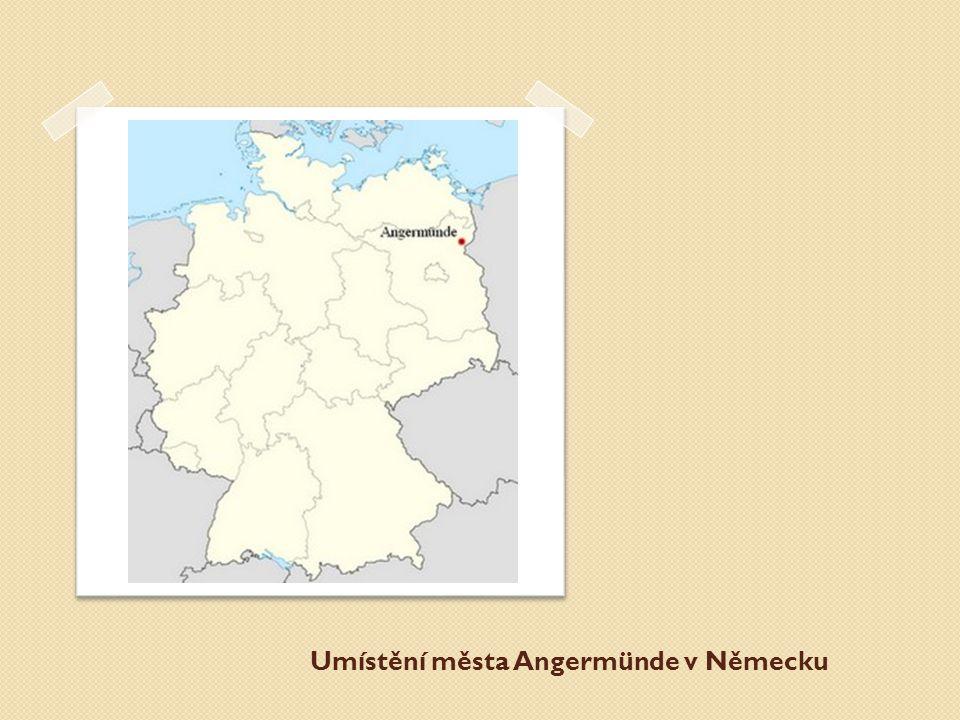 Umístění města Angermünde v Německu