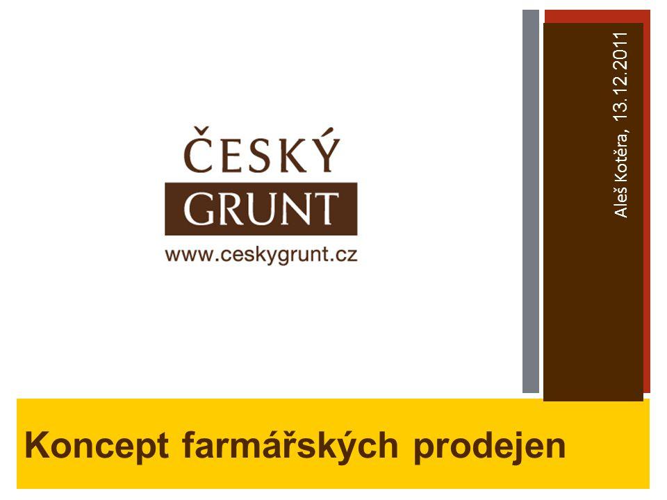 Koncept farmářských prodejen Aleš Kotěra, 13.12.2011
