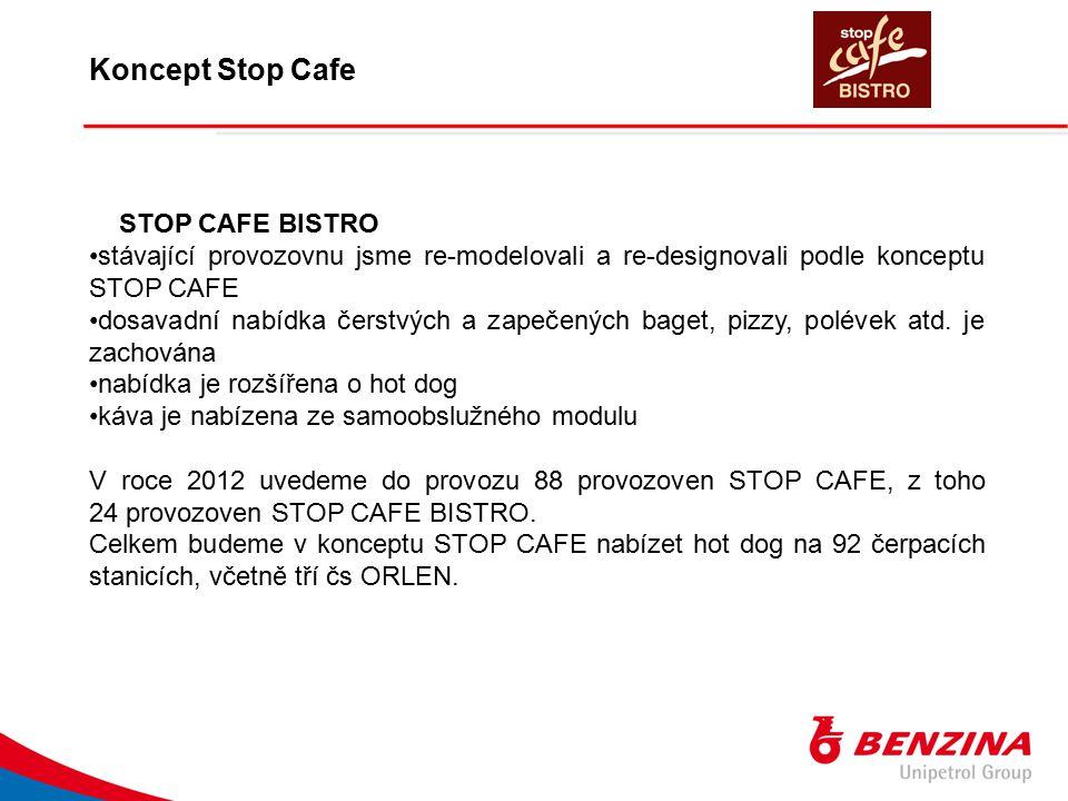 STOP CAFE BISTRO stávající provozovnu jsme re-modelovali a re-designovali podle konceptu STOP CAFE dosavadní nabídka čerstvých a zapečených baget, piz