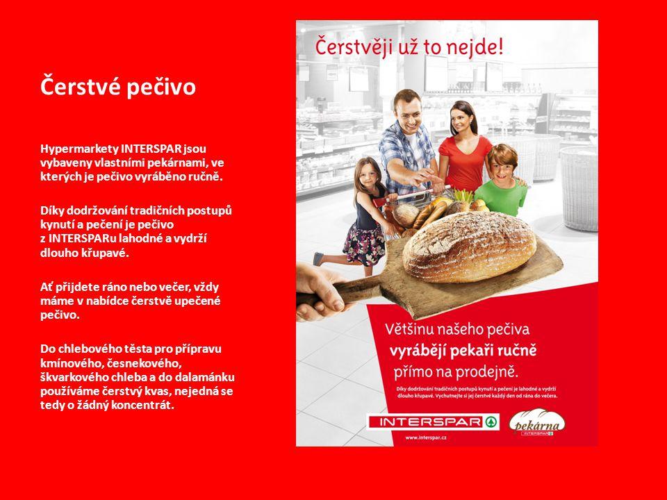 Čerstvé pečivo Hypermarkety INTERSPAR jsou vybaveny vlastními pekárnami, ve kterých je pečivo vyráběno ručně.