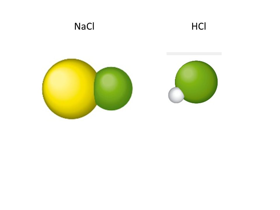 NaCl HCl
