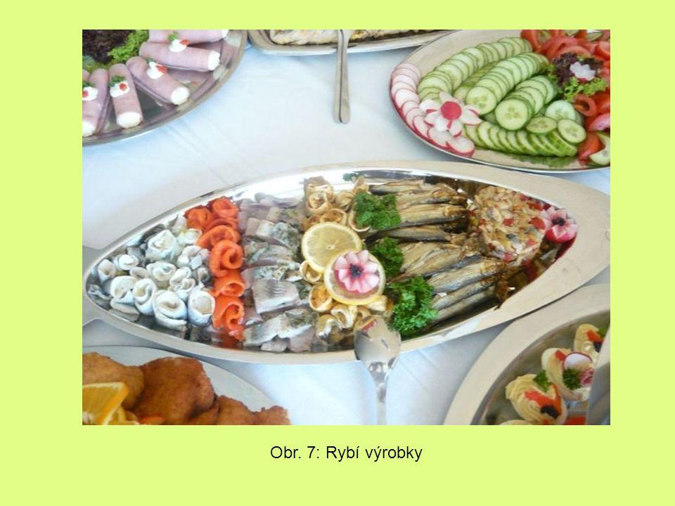 Obr. 7: Rybí výrobky