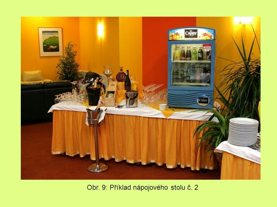 Obr. 9: Příklad nápojového stolu č. 2