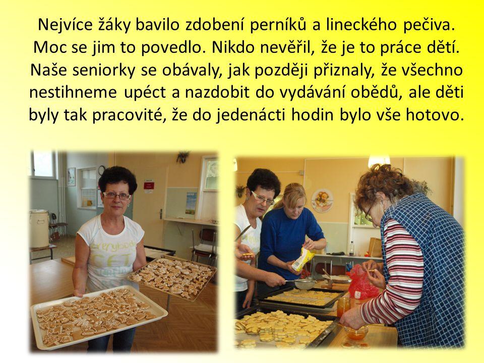 Nejvíce žáky bavilo zdobení perníků a lineckého pečiva.