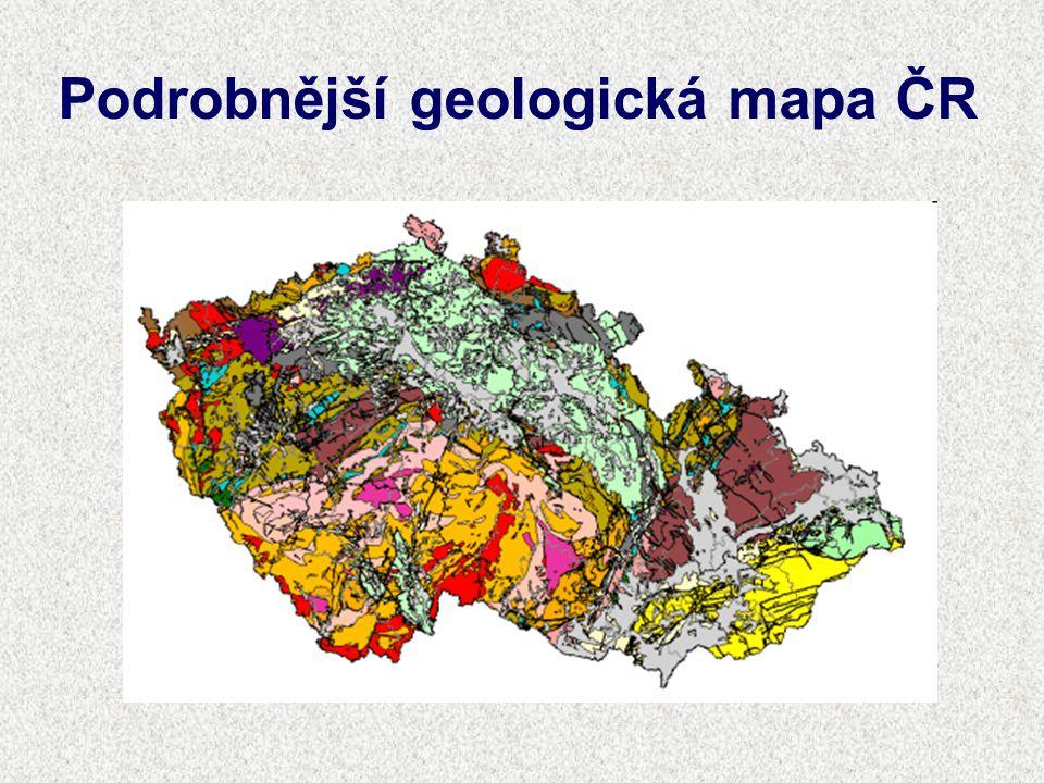 Podrobnější geologická mapa ČR