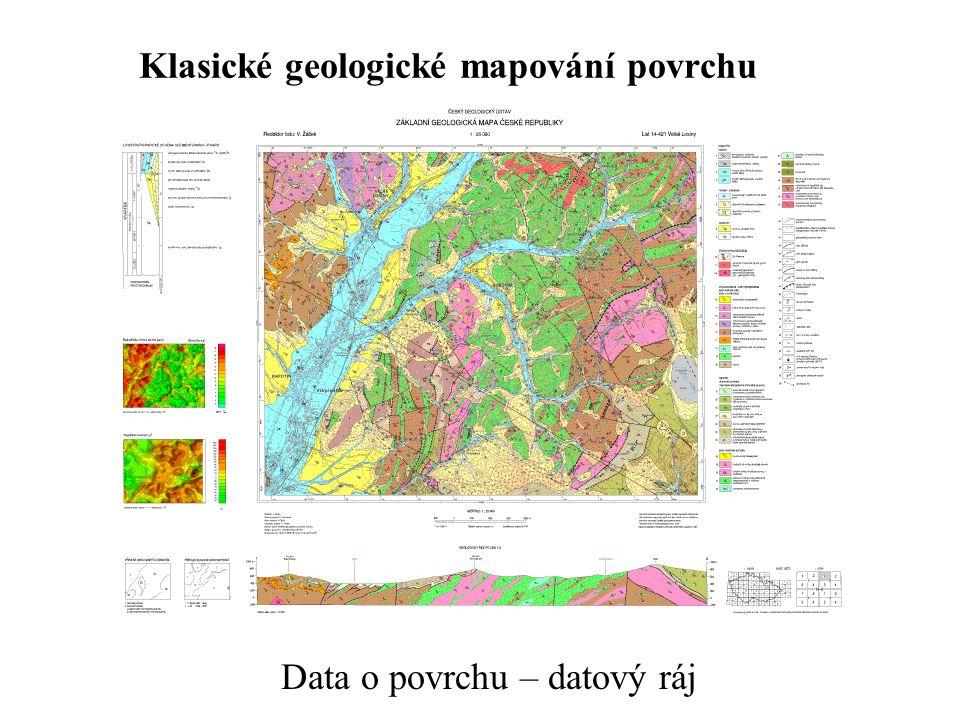 Klasické geologické mapování povrchu Data o povrchu – datový ráj