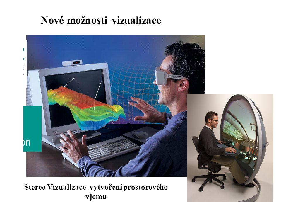 Stereo Vizualizace- vytvoření prostorového vjemu Nové možnosti vizualizace