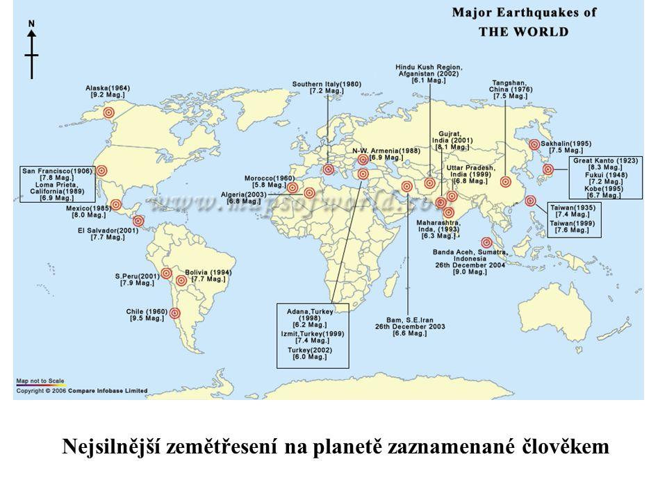 Nejsilnější zemětřesení na planetě zaznamenané člověkem