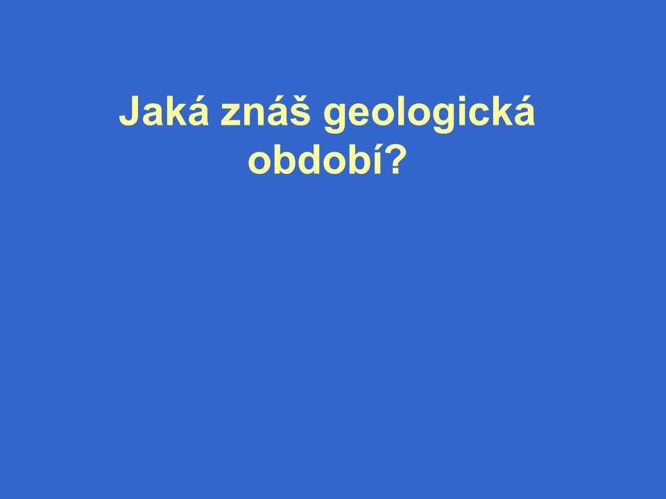 Jaká znáš geologická období?