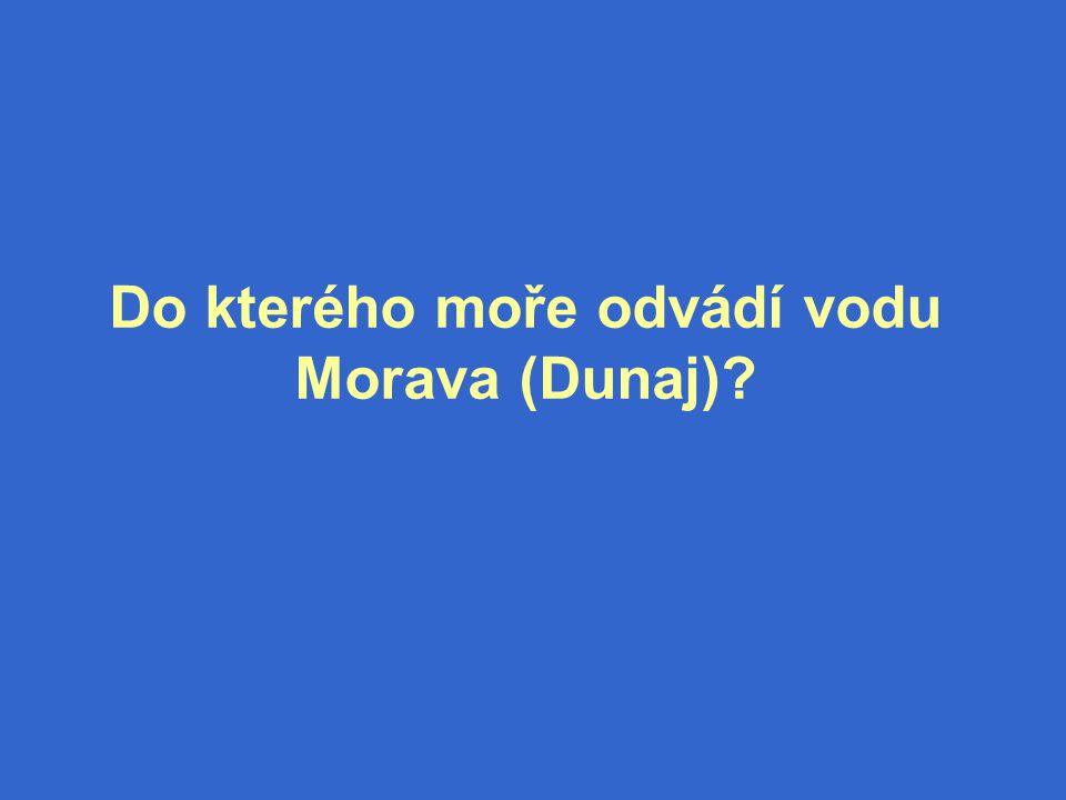 Do kterého moře odvádí vodu Morava (Dunaj)?
