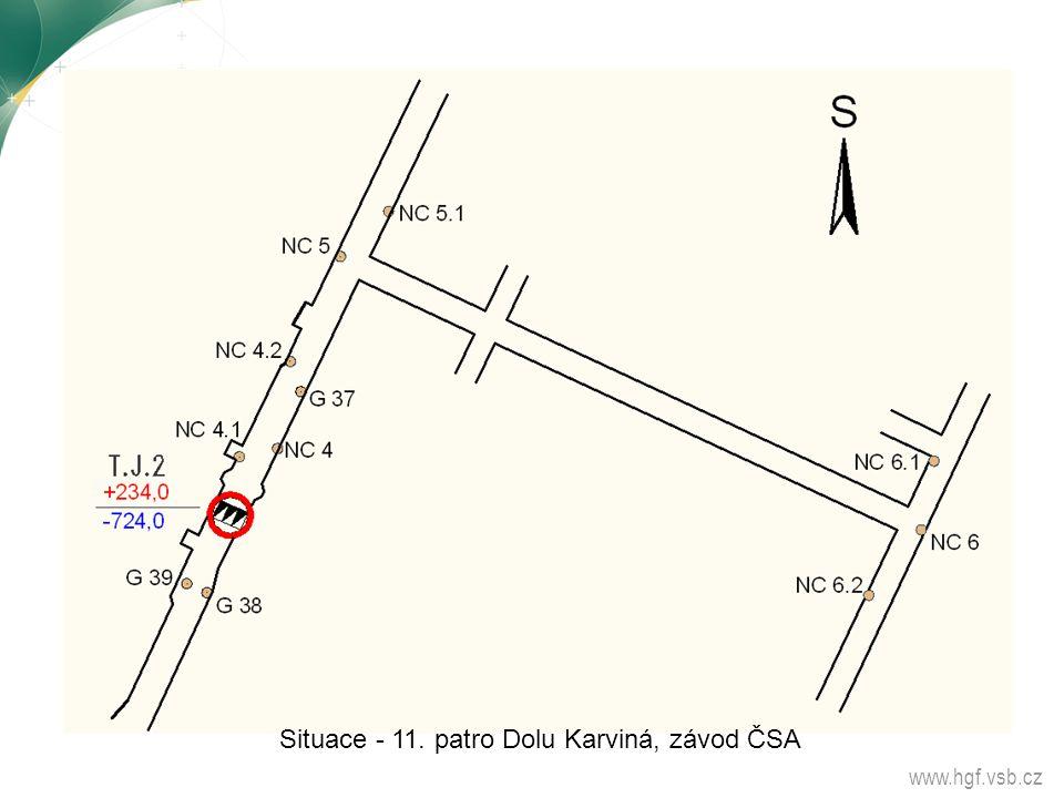 www.hgf.vsb.cz Situace - 11. patro Dolu Karviná, závod ČSA