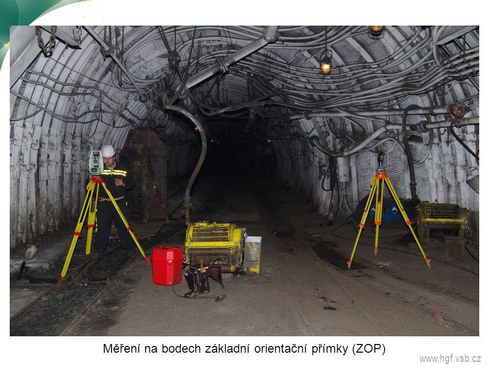 www.hgf.vsb.cz Měření na bodech základní orientační přímky (ZOP)