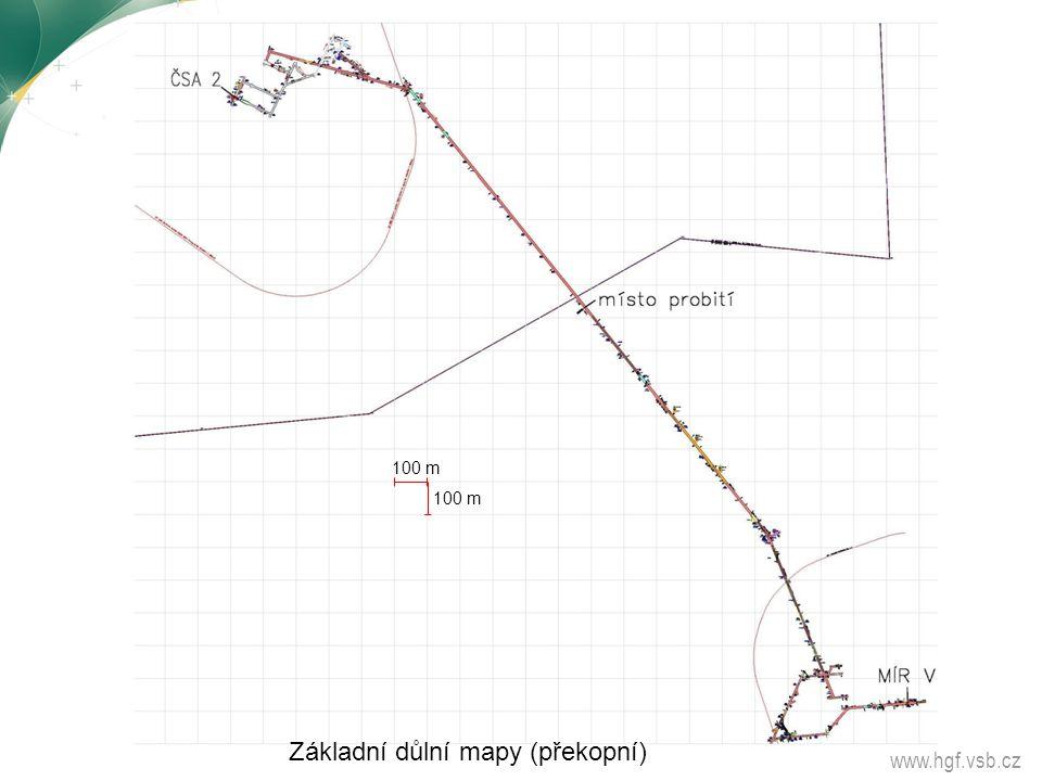 www.hgf.vsb.cz Základní důlní mapy (překopní) 100 m
