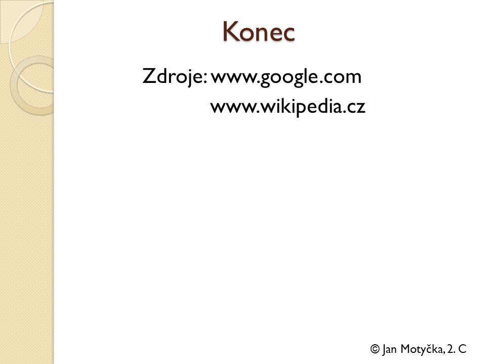 Konec Zdroje: www.google.com www.wikipedia.cz © Jan Motyčka, 2. C