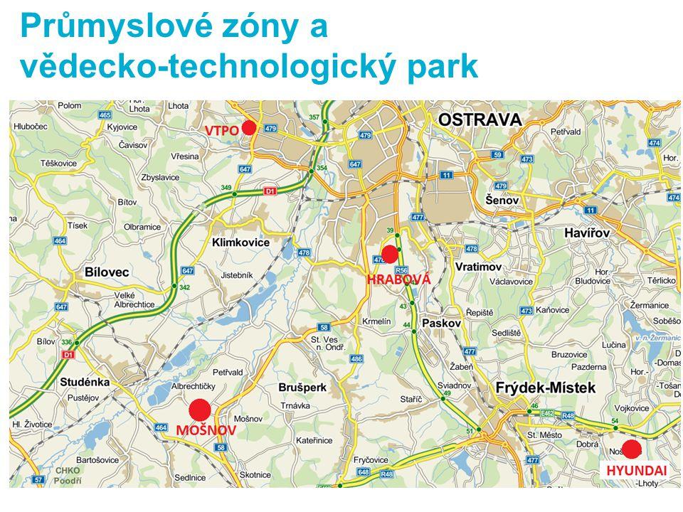 info Průmyslové zóny a vědecko-technologický park