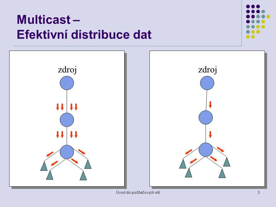 Úvod do počítačových sítí3 Multicast – Efektivní distribuce dat zdroj
