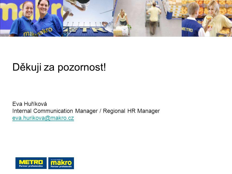 Děkuji za pozornost! Eva Huříková Internal Communication Manager / Regional HR Manager eva.hurikova@makro.cz eva.hurikova@makro.cz
