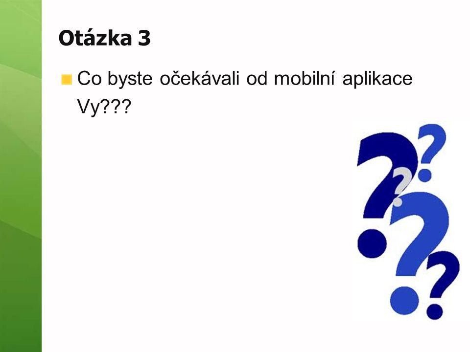 Otázka 3 Co byste očekávali od mobilní aplikace Vy???