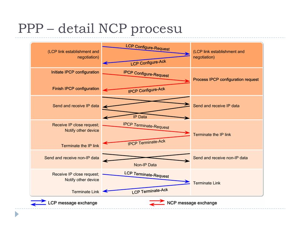 PPP – detail NCP procesu