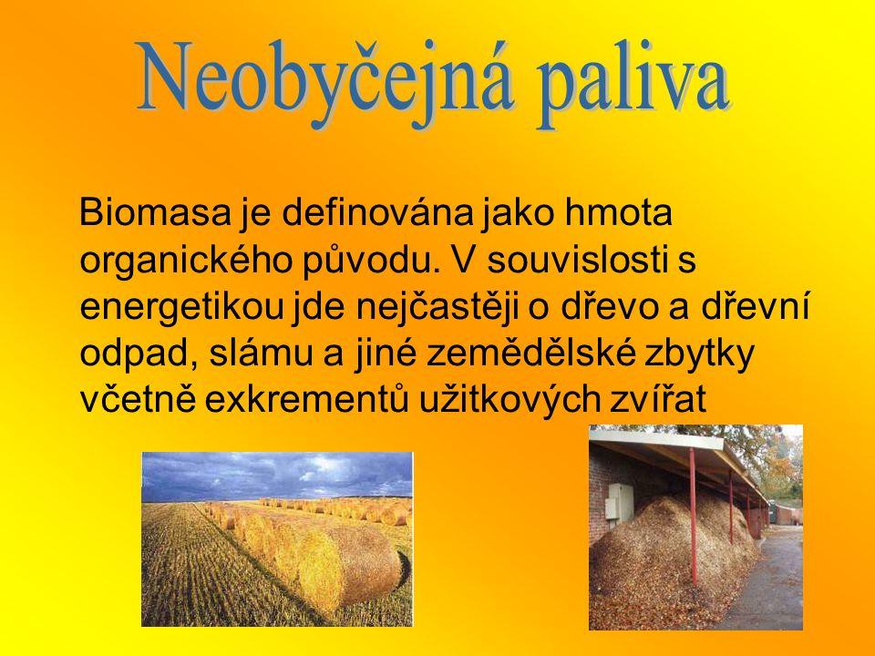 Biomasa je definována jako hmota organického původu. V souvislosti s energetikou jde nejčastěji o dřevo a dřevní odpad, slámu a jiné zemědělské zbytky