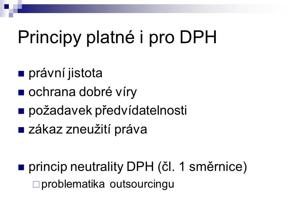 Principy osvobození (bez) - EU správnost a jednoduchost uplatňování a zamezení daňových úniků a zneužití (čl.