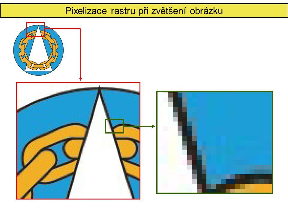 Pixelizace rastru při zvětšení obrázku