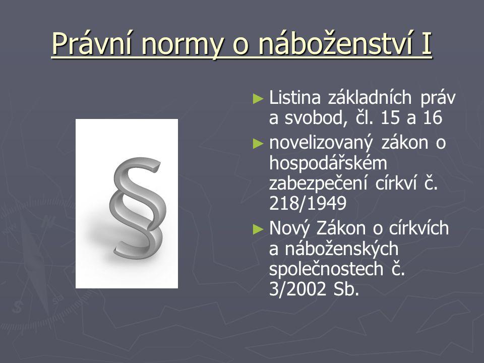 Právní normy o náboženství I ► Listina základních práv a svobod, čl.