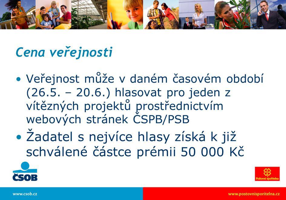 Cena veřejnosti Veřejnost může v daném časovém období (26.5.