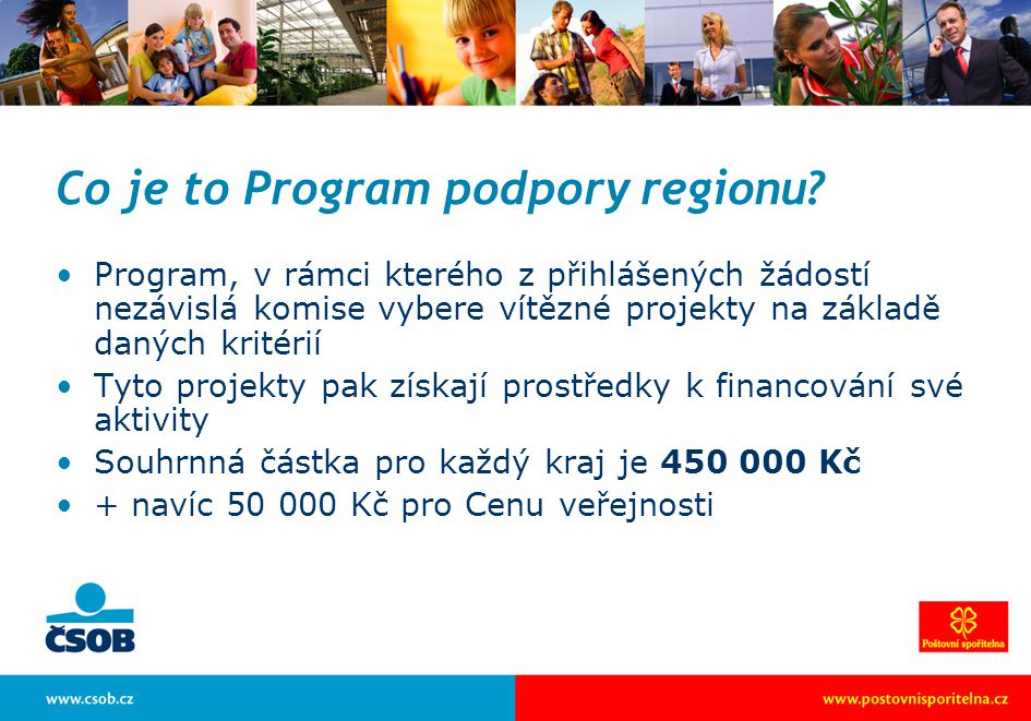 Co je to Program podpory regionu.