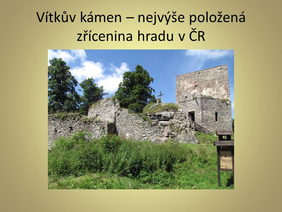 Vítkův kámen – nejvýše položená zřícenina hradu v ČR