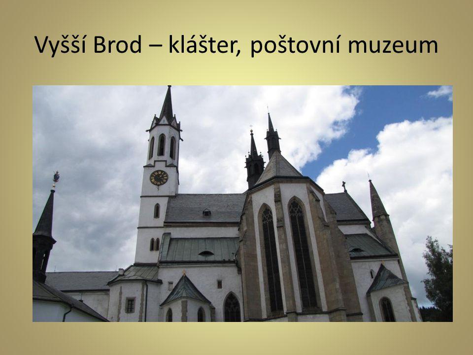 Vyšší Brod – klášter, poštovní muzeum
