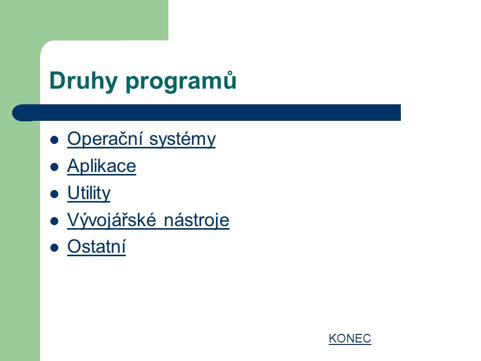 Operační systém OS slouží ke komunikaci uživatele s počítačem.