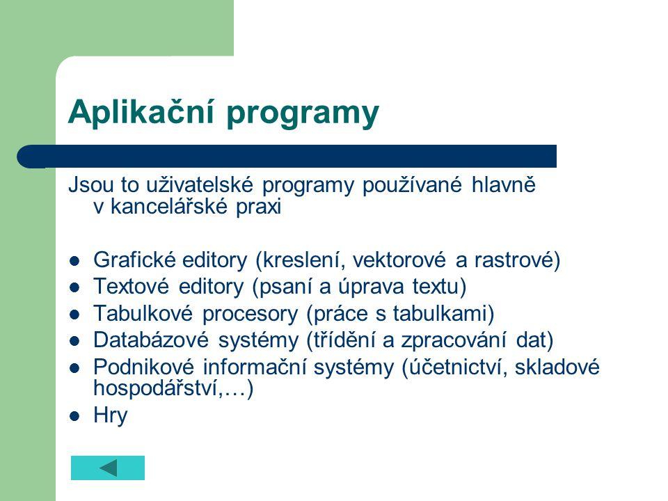 Utility (pomůcky) Jsou to menší programy, které umožňují vykonávat pohodlně a efektivně servisní a pomocné práce, potřebné k dobré funkci počítače.