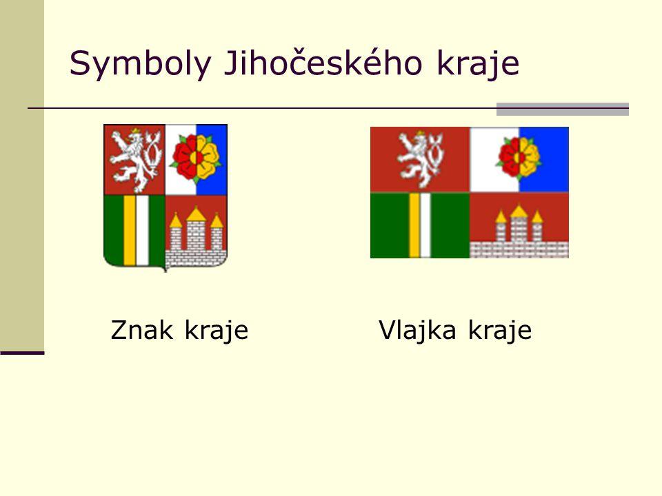 Symboly Jihočeského kraje Znak krajeVlajka kraje