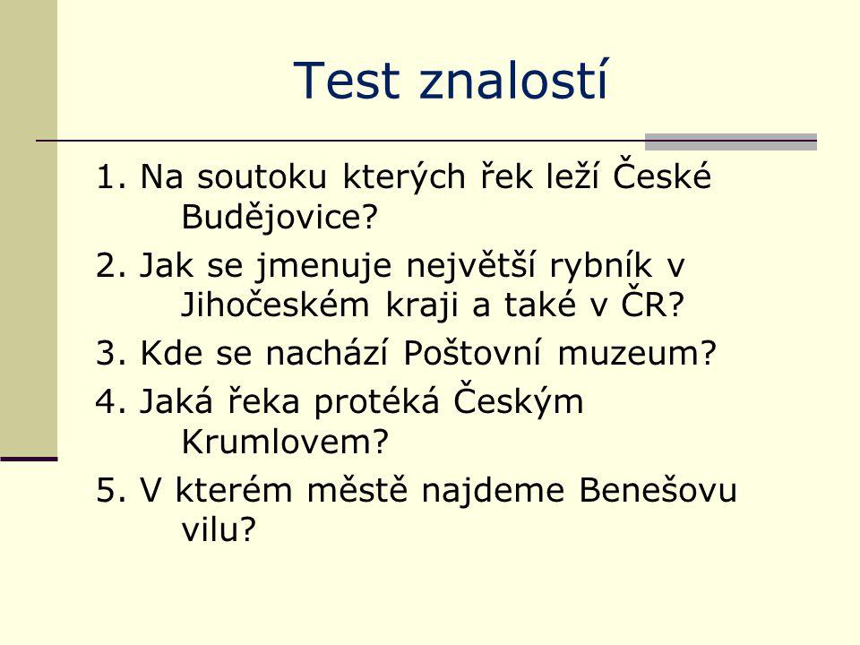 Test znalostí 6.Na které řece leží nejstarší most v České republice.